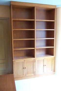 Elaboracion de muebles de salon comedor la alacena segoviana for Muebles de biblioteca